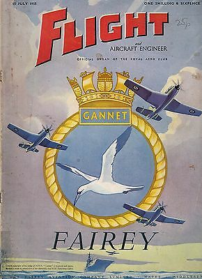 1955 15 JULY 52984  Flight And Aircraft Engineer Cover Advert FAIREY GANNET