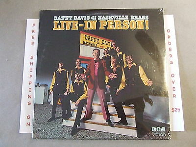 Sealed Danny Davis & Nashville Brass Live-In Person Lp Record Lsp-4720