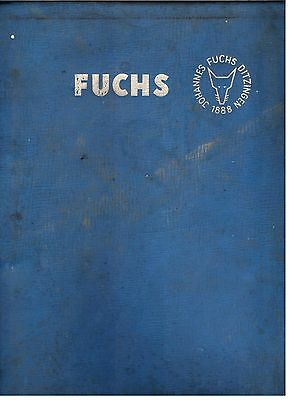 Fuchs 301 Excavator / Crane Spare Parts Catalogue Early 1960's 8141E