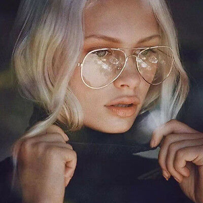 Classic Vintage Retro Womens Mens Clear Lens Metal Frame Eyeglasses Glasses YG