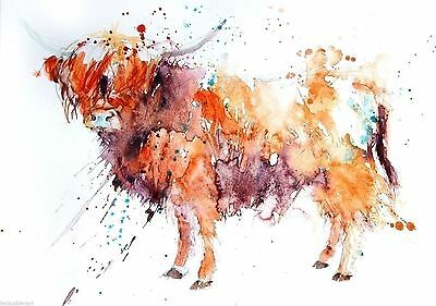 JEN BUCKLEY signed LIMITED EDITON PRINT of my original HIGHLAND COW