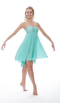 Ladies Girls Mint Green Lyrical Dress Contemporary Ballet Dance Costume By Katz