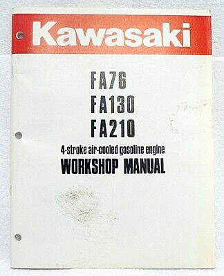 kawasaki fj180v 4 stroke air cooled gas engine full service repair manual