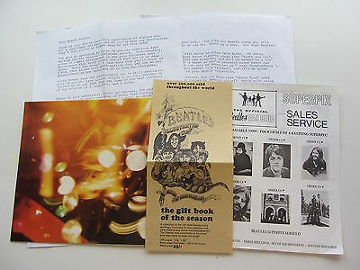 The Beatles Seventh  Christmas Record Fanclub Flexi 1969  &  Inserts