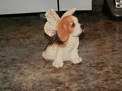 ANGEL BEAGLE DOG STATUE—Stone Critters—SC786—MADE IN USA