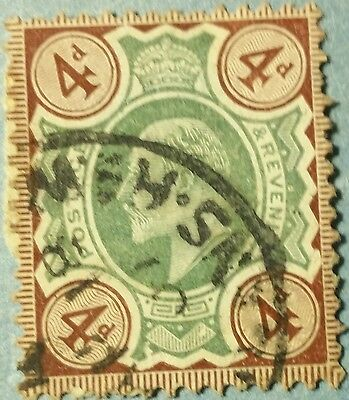Great Britain   Scott#133 Used Stamp.   Scu211Kk ..worldwide Stamps