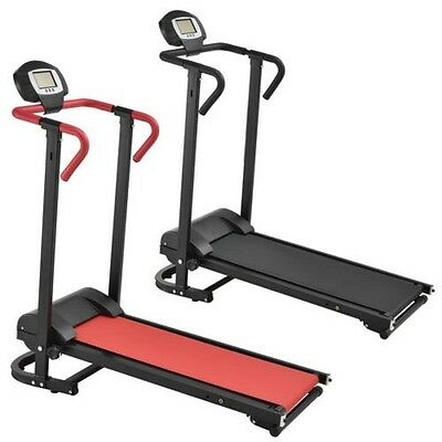 [in.tec] Manual Treadmill with LCD Display Gym apparatus Folding Home trainer