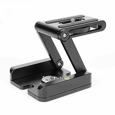Aluminum Camera Folding Z Tripod Flex Pan&Tilt Ball Head Desktop Stand Holder JN
