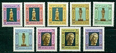 Iraq Scott #759-767 MNH Ancient Statues CV$6+