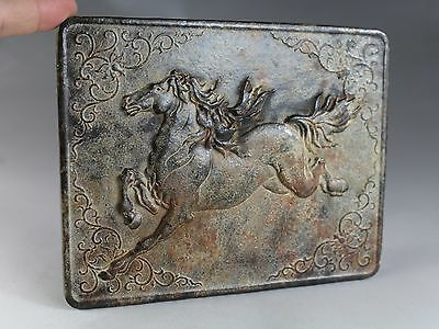 Chinese antique jade hand carved jade galloping horse furnishing articles 2936
