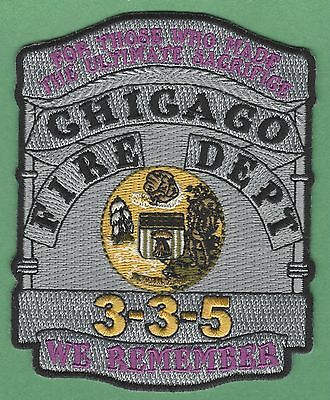 Chicago Fire Department Signal 3-3-5 Memorial Patch