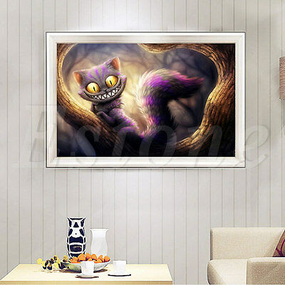5D Diamond Painting Cross Stitch Cool Cat  Embroidery Crafts Home Decor