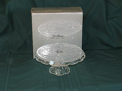 Gorham Lady Anne Glass Crystal Cake Stand in Box
