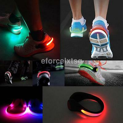 1PCS LED Luminous Shoe Clip Light Night Safety Cycling Jogging Outdoor Supplies