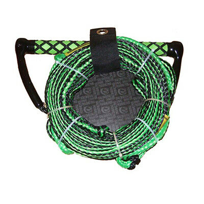 "Riders Inc Water Ski Kneeboard Tow Rope with EVA 13"" Handle GREEN"