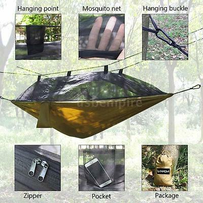 Outdoor Camping Mosquito Net Compact Traveling Hammock for One Person D6M0