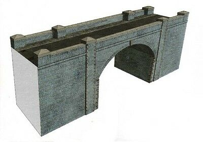 Superquick A15 Blue Brick Bridge Tunnel Entrance Oo Card Kit For Peco Hornby Etc