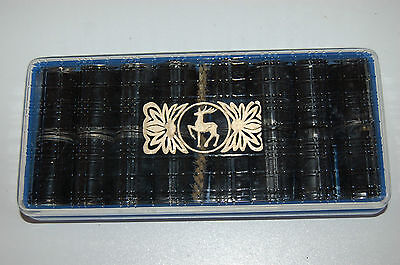 35 mm METAL Film Cassettes x 16. Good Condition. With Brushes and Good Box.