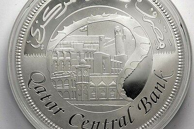 QATAR Central Bank 122 Gr. UNC Proof  Mintage 500 Silver Bigcoin