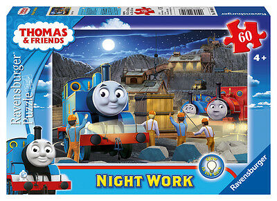09604 Ravensburger Thomas Night Work Glow Dark Puzzle 60pc [Children's Jigsaw]