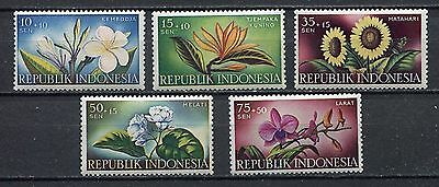Indonesia 1957 Orchids / Flowers   Set  (Mh)