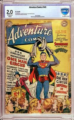 Adventure Comics # 145  Superboy, Aquaman, Green Arrow !  CBCS 2.0 scarce book !