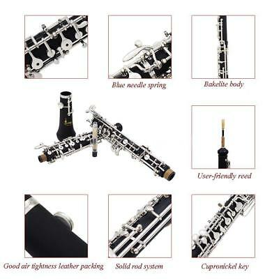 Professional Oboe C Key Cupronickel Plated Silver Woodwind for Beginner D6K9