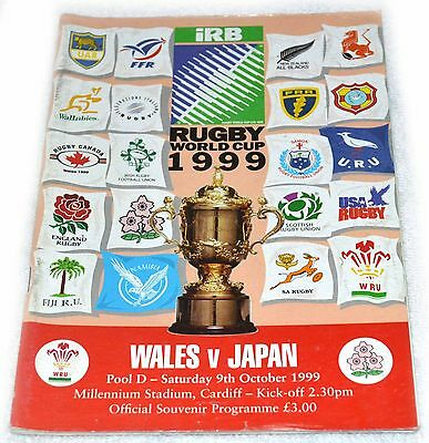 Rugby Union Programme - Wales Vs Argentina  World Cup Oct 1999 Opening Ceremony