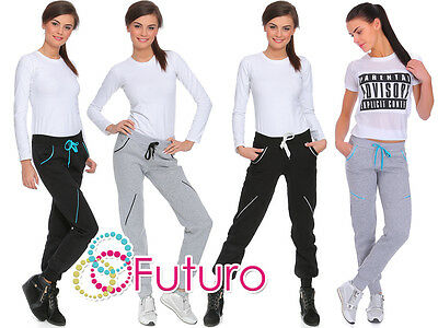 Womens Grey Jogging Bottoms Trousers Tracksuit Pants Joggers Sizes 8-14 FZ04