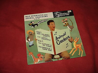 "MAX BYGRAVES Animal crackers 7"" EP CHILDRENS"