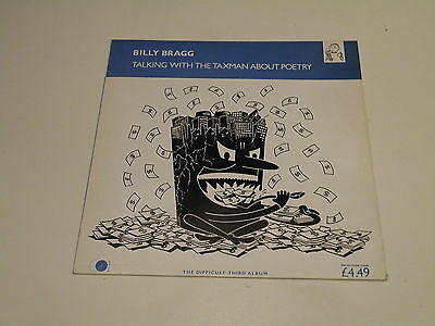 Billy Bragg - Talking With The Taxman About Poetry - Lp 1986 Go! Disc Uk - Ois -