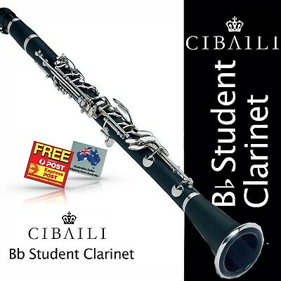 CIBAILI Black Bb Student CLARINET • BRAND NEW •  With Reeds, Case and Warranty •