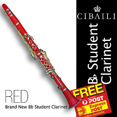 Black Bb CIBAILI Student CLARINET • Brand New •  With Reeds and Case  •