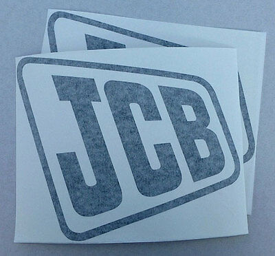 2x 'JCB' Digger logo decal self-adhesive vinyl stickers, various colours