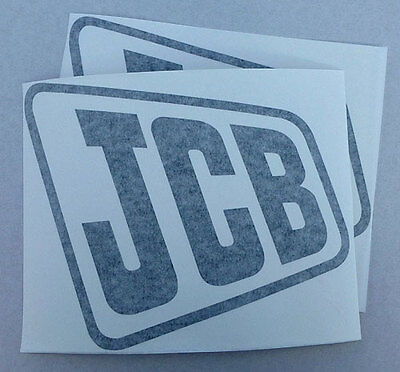 2x 'JCB' logo decal self-adhesive vinyl stickers Black, White, Yellow or Red