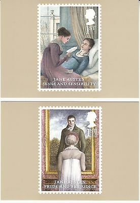 2013 Jane austin PHQ 373 Cards Unmounted Mint set of 6 Royal Mail Post cards iss