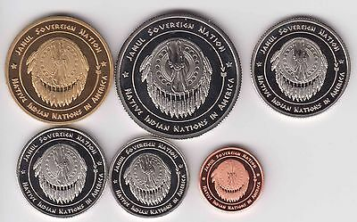 USA Indian Tribe APACHES, set 6pcs 2016, unusual coinage