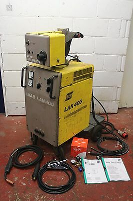 ESAB LAN 400 3 Phase 400A Mig Welder With A10 MEH 30 Wire Feed FREE DELIVERY