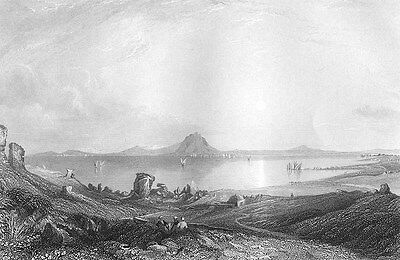 Tunisia, ANCIENT CITY OF CARTHAGE RUINS Punic Wars ~ 1843 Art Print Engraving