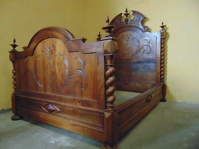 5 foot Chateau bed in the Louis XIII style  ( WR181) whole suite available