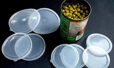 6 Piece Large Medium Small Plastic Can Cover Also For Pet Cat Dog Food