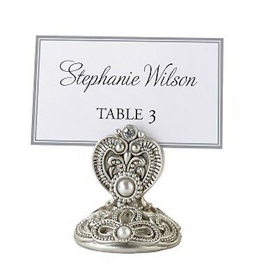 Set of 2 NEW Jeweled Place Card Holders/ Photo holder. Wedding party event