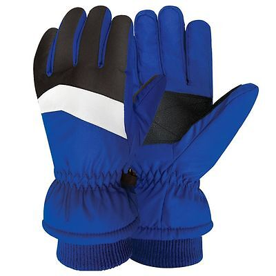 NEW with TAGS Boys IGLOOS Blue  Winter Ski Gloves Thinsulate Waterproof M/L