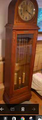 Antique Westminster Chime Longcase Clock Perfect Working Order 1920's