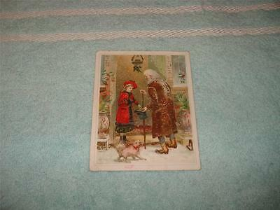Antique Victorian Christmas Card