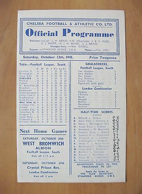 CHELSEA v WEST HAM UNITED 1945/1946 *Good Condition Football Programme*