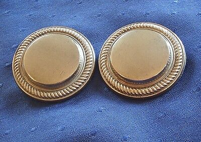 Antique Horse Brass - A Good Pair Of White Metal Bridle Rosettes