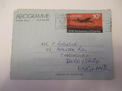 Air Mail Letter R.w.taylor , M.c.c. Touring Team, Perth To Chesterfield