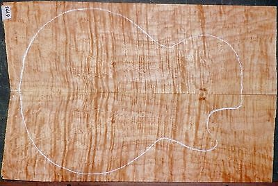 EXTREME 5A SUPER Quilted Maple #6476 LUTHIER Guitar Top WOOD   22 x 14+ x  3/4+