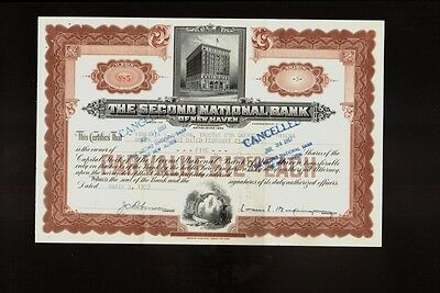The Second National Bank of New Haven dd 1955